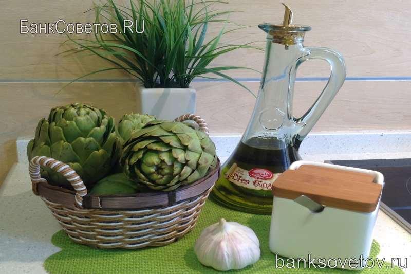 ингредиенты для рецепта артишоков