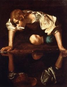«Нарцисс у ручья» картина Караваджо
