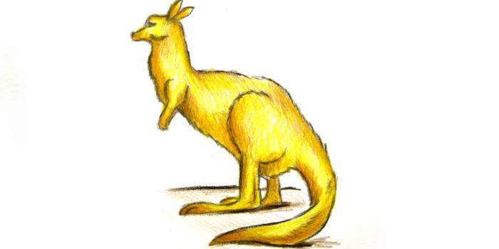 Как нарисовать кенгуру карандашом поэтапно