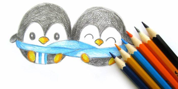 Как нарисовать пингвина поэтапно карандашом