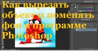 Как вырезать объект и заменить фон в программе Фотошоп